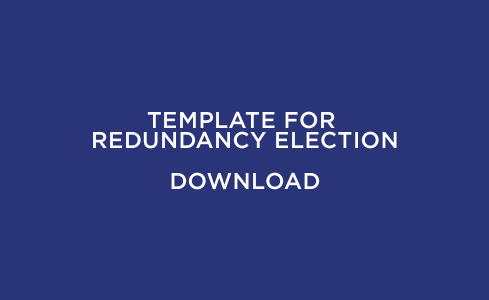 Template for Redundancy Election
